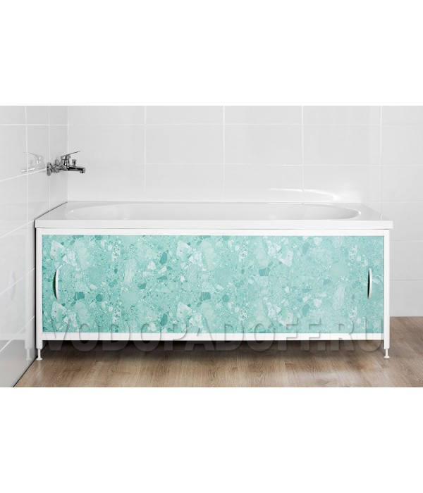 Фотоэкран под ванну 4059 Мрамор светло-зеленый Премиум Размер 148/168