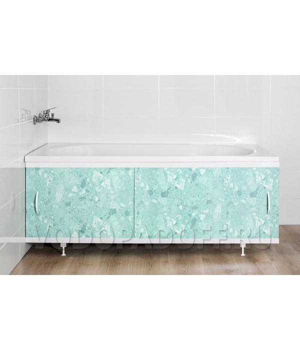 Фотоэкран под ванну 4059 Мрамор светло-зеленый Классик Размер 148/168