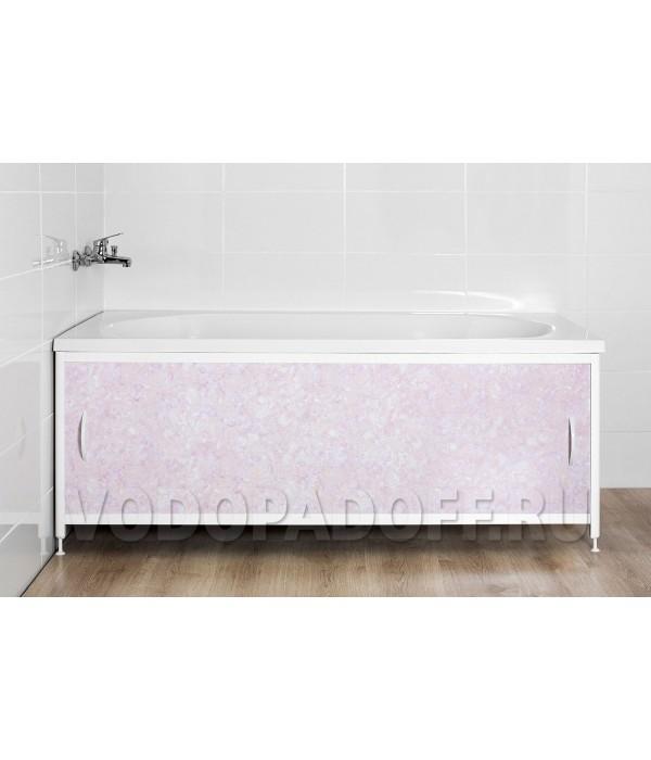 Фотоэкран под ванну 4115 Мрамор лилово-хрустальный Премиум Размер 148/168