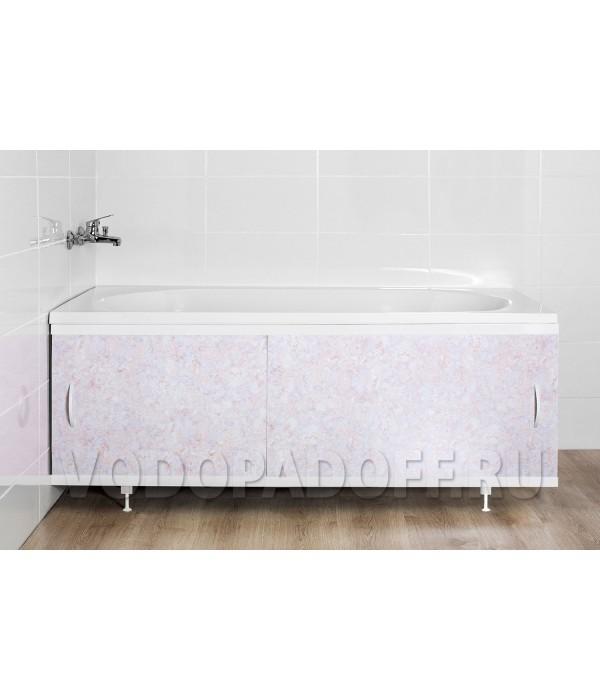 Фотоэкран под ванну 4115 Мрамор лилово-хрустальный Классик Размер 148/168