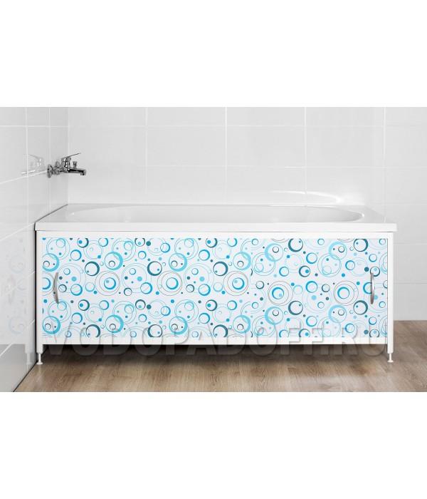 Фотоэкран под ванну 4293 Гало голубой Премиум Размер 148/168