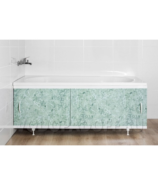 Фотоэкран под ванну 4453 Мрамор темно-зеленый Классик Размер 148/168