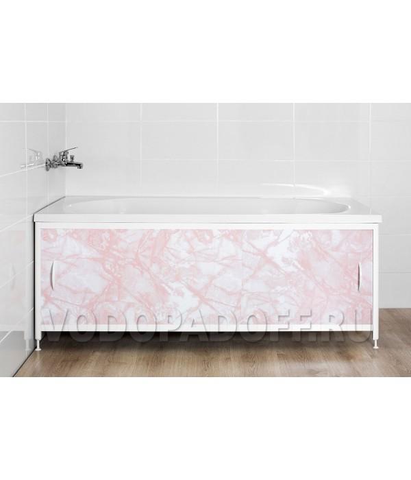Фотоэкран под ванну 4578 Мрамор лиловый Премиум Размер 148/168