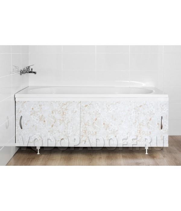 Фотоэкран под ванну 4615 Мрамор светлый Классик Размер 148/168