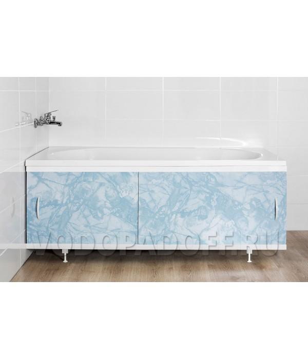 Фотоэкран под ванну 4714 Мрамор голубой Классик Размер 148/168