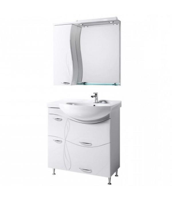 Комплект мебели Alavann Мишель 82, белый чаша справа