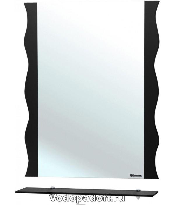 Зеркало Bellezza Мари 60 волна, черный