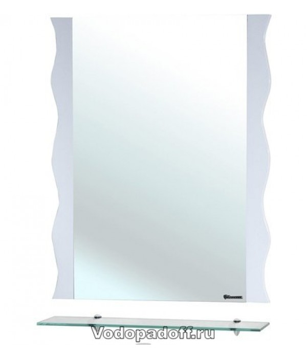 Зеркало Bellezza Мари 70 волна белый