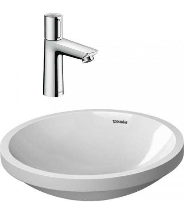 Комплект Смеситель Hansgrohe Talis Select E 71750000 для раковины, с донным клапаном + Рукомойник Duravit Architec 0319420000