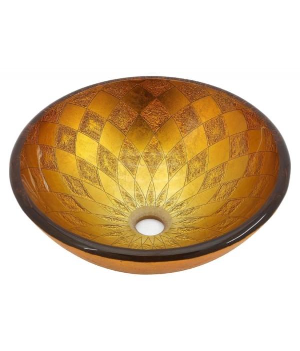 Рукомойник Kraus GV-691-19 mm желто-золотой