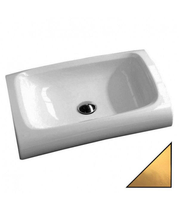 Раковина Hidra Ceramica Hi-line HI15 белая с золотым