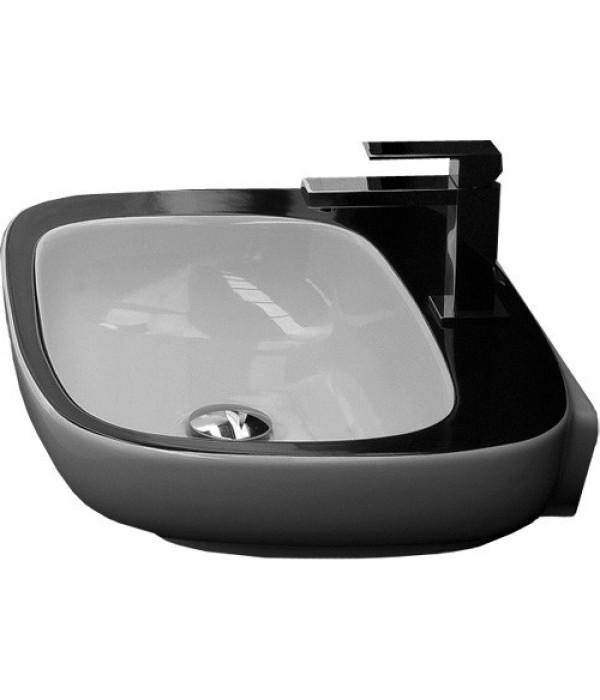 Раковина Hidra Ceramica Dial белая с черным, 60 см