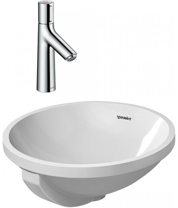 Комплект Смеситель Hansgrohe Talis Select S 72042000 для раковины + Рукомойник Duravit Architec 0468400000
