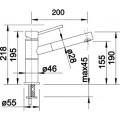 Смеситель Blanco Alta-S Compact 517182 для кухонной мойки