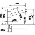 Смеситель Blanco Alta Compact 518810 для кухонной мойки
