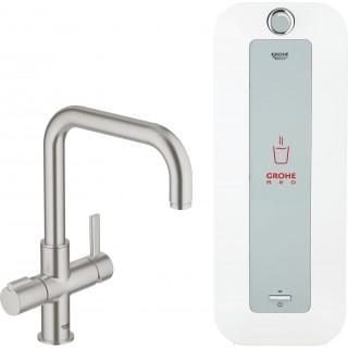 Смеситель Grohe Red Duo 30156DC0 для кухонной мойки, с водонагревателем