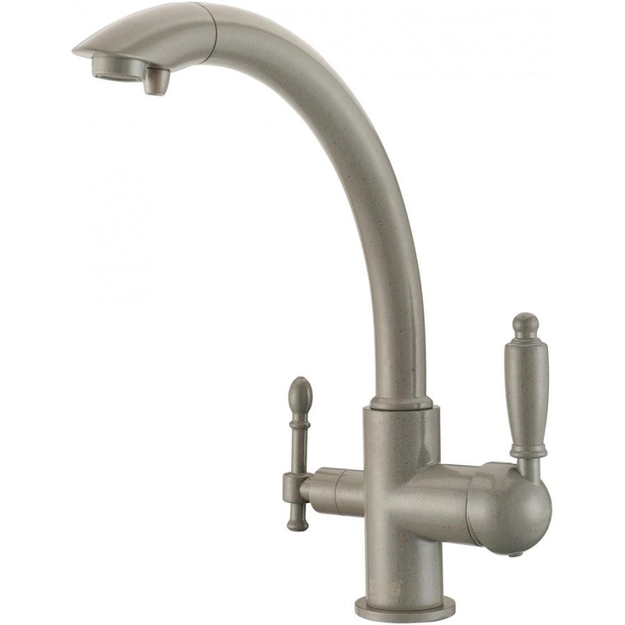 Смеситель Zorg Clean Water ZR 314 YF-33 серый беж для кухонной мойки