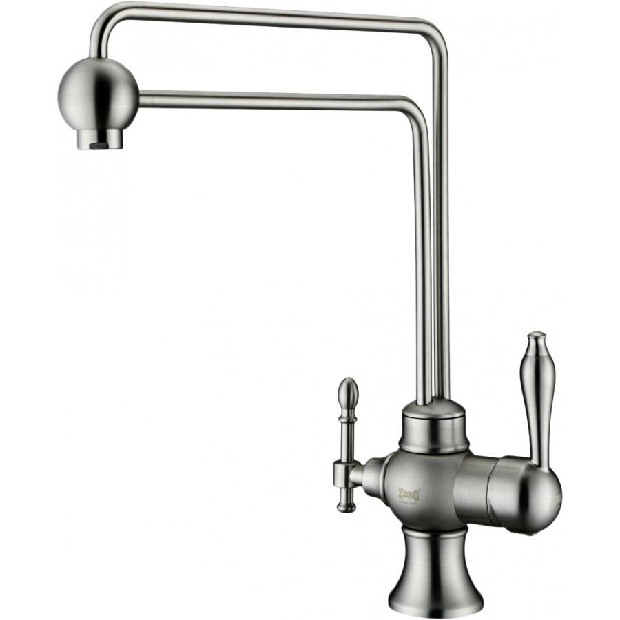 Смеситель Zorg Sanitary ZR 345 YF Steel для кухонной мойки