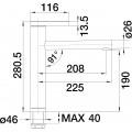 Смеситель Blanco Linee-S 518438 для кухонной мойки