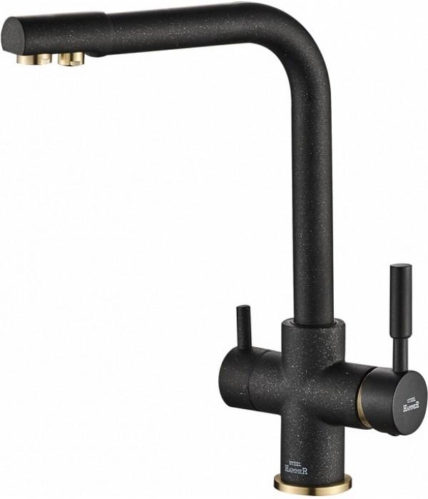 Смеситель Steel Hammer SH 552 BLACK BR для кухонной мойки