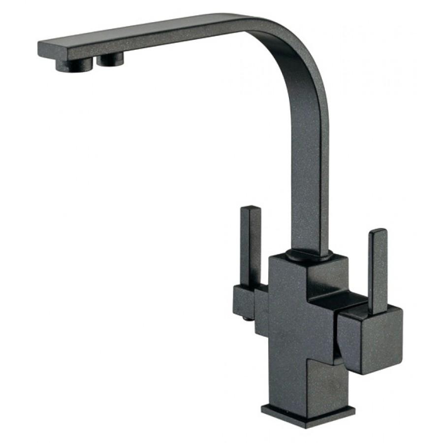 Смеситель Zorg Sanitary ZR 332 YF черный металлик, для кухонной мойки