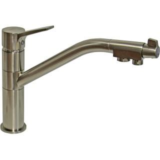 Смеситель Zorg Sanitary ZR 401 KF nickel для кухонной мойки