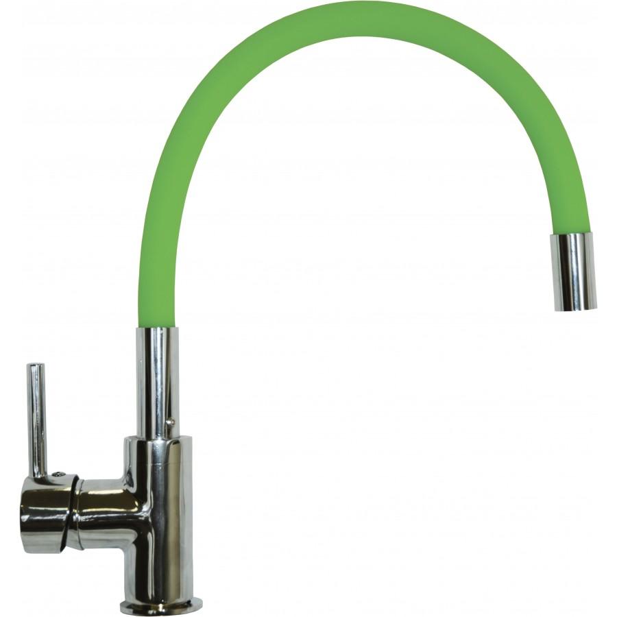Смеситель Florentina Flex-01 зеленый, для кухонной мойки