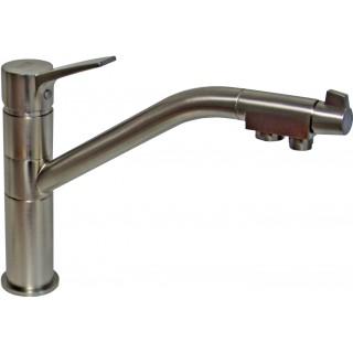 Смеситель Zorg Sanitary ZR 401 KF satin для кухонной мойки