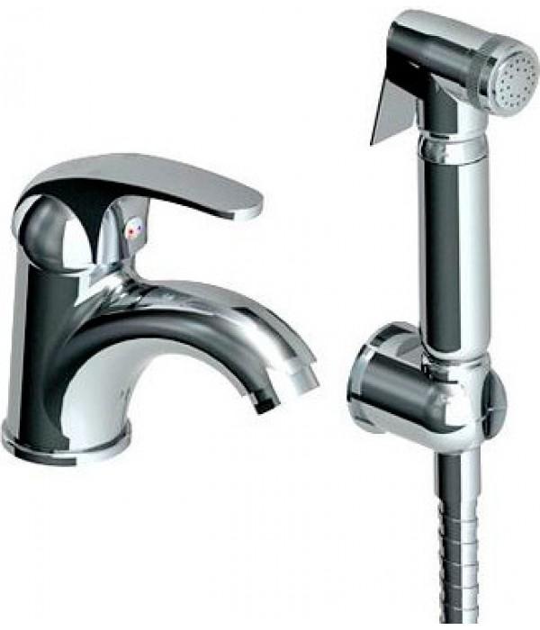 Смеситель GPD Eko MFB80 для раковины с гигиеническим душем