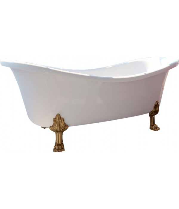 Ванна из искусственного камня Фэма Габриэлла 2 белая, ножки золото