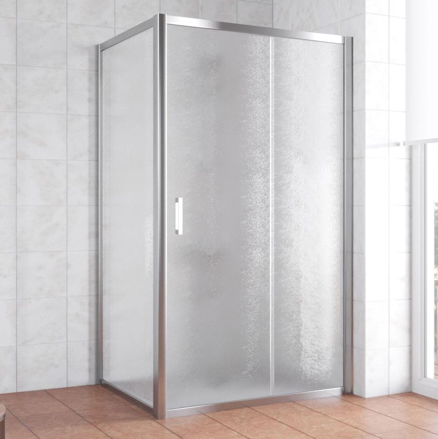 Душевой уголок Vegas Glass ZP+ZPV 110*90 08 02 профиль глянцевый хром, стекло шиншилла фото