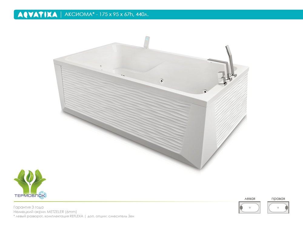 Акриловая ванна Aquatika Аксиома 175 STANDART