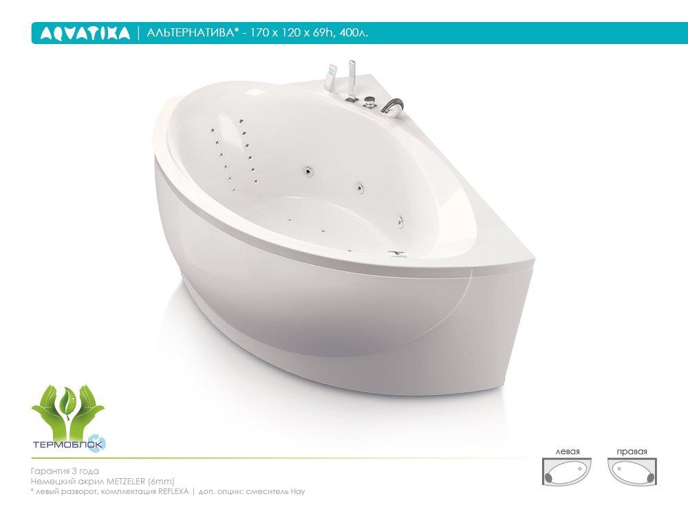 Акриловая ванна Aquatika Альтернатива 170 BASIC