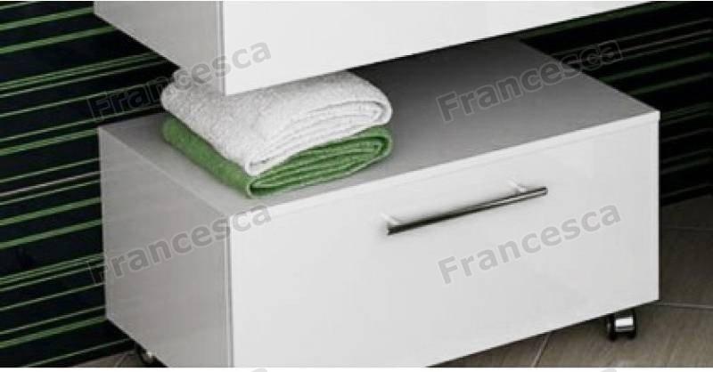 Купить со скидкой Тумба напольная Francesca Милана 75 белый (1 ящик)