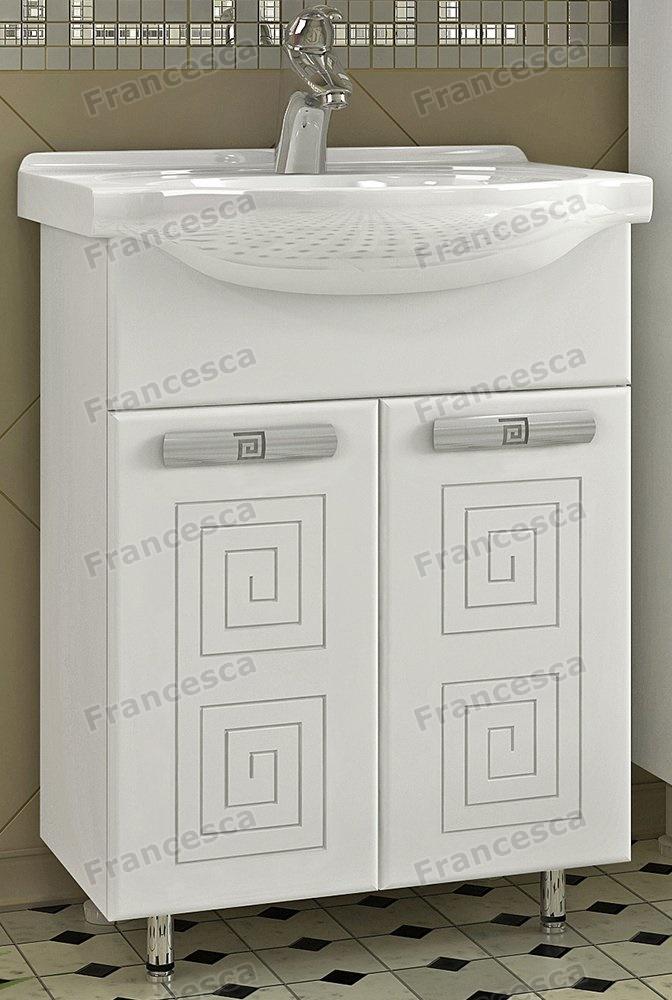 Тумба с раковиной Francesca Моретти 65 белый (2 двери, ум. Элеганс 65)