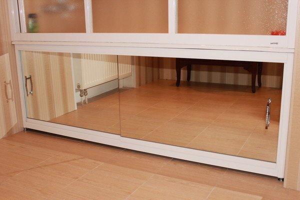 Зеркальный экран под ванну на роликах Francesca Elite