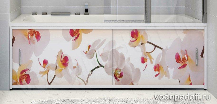Фотоэкран под ванну Francesca Premium Акация Размер на заказ изготовление 1-2 дня
