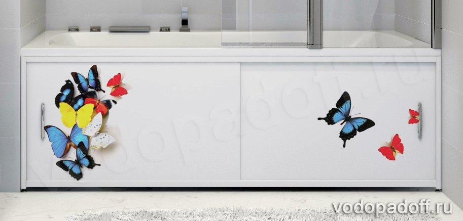 Фотоэкран под ванну Francesca Premium Бабочки Размер на заказ изготовление 1-2 дня