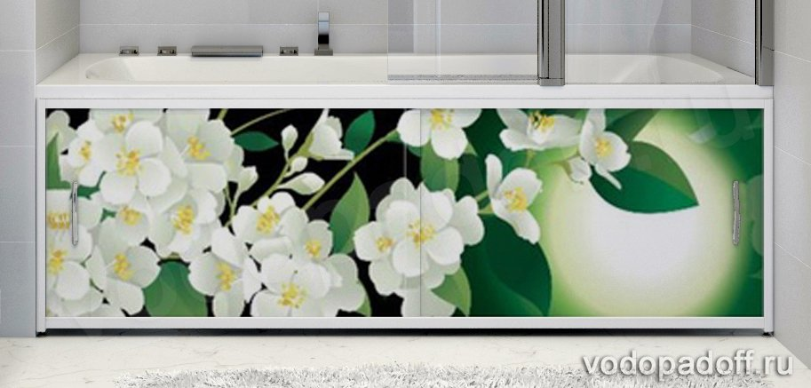 Фотоэкран под ванну Francesca Premium Цветение Размер на заказ изготовление 1-2 дня