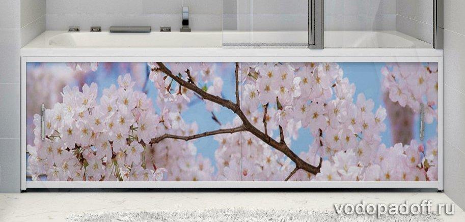 Фотоэкран под ванну Francesca Premium Цветущий сад Размер на заказ изготовление 1-2 дня