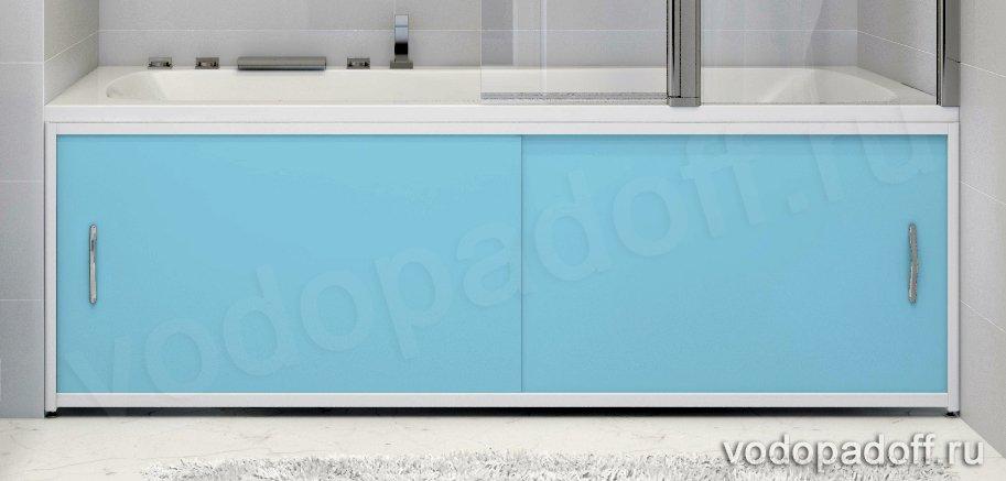 Экран для ванной Francesca Premium голубой Размер на заказ изготовление 1-2 дня