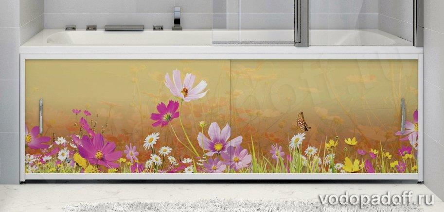 Фотоэкран для ванны Francesca Premium Лето Размер на заказ изготовление 1-2 дня