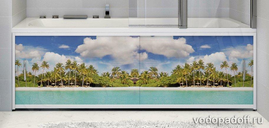 Фотоэкран под ванну Francesca Premium Пляж Размер на заказ изготовление 1-2 дня