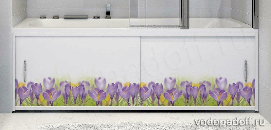 Фотоэкран под ванну Francesca Premium Полевые цветы Размер на заказ изготовление 1-2 дня
