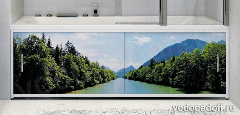 Фотоэкран под ванну Francesca Premium Природа Размер на заказ изготовление 1-2 дня