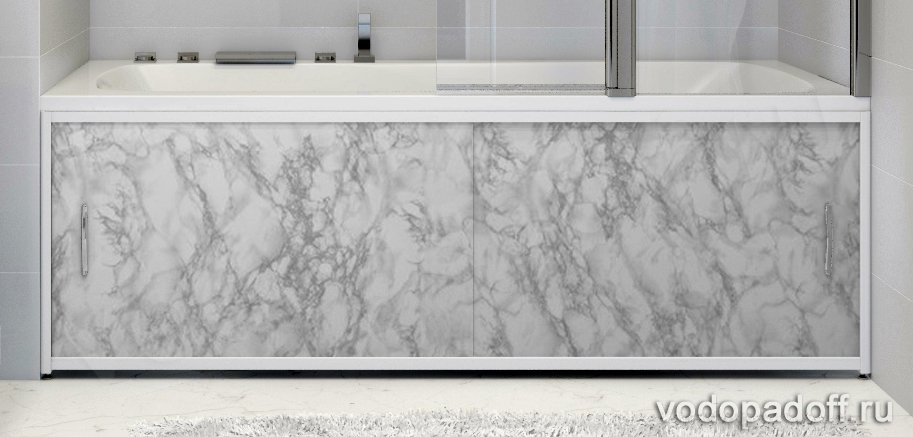 Экран под ванну Francesca Premium серый мрамор Размер на заказ изготовление 1-2 дня