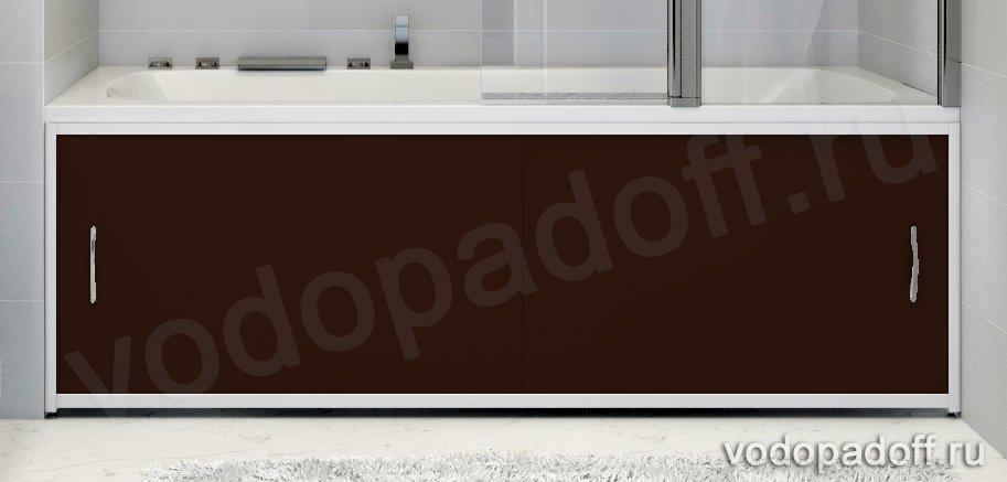 Экран для ванной Francesca Premium темно-коричневый Размер на заказ изготовление 1-2 дня