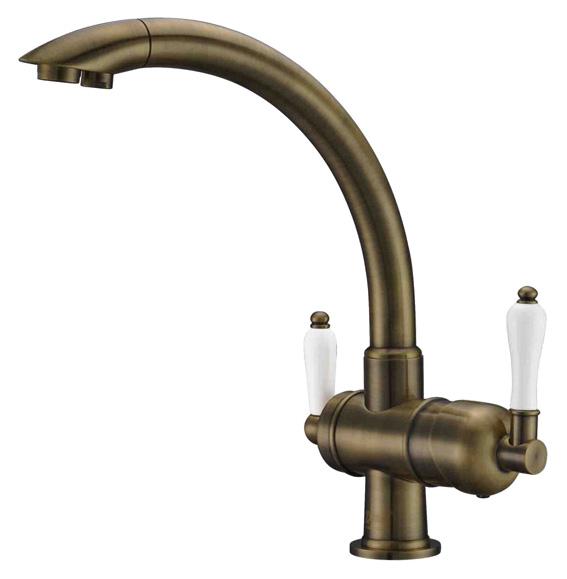 Смеситель Zorg Clean Water ZR 327 YF antique для кухонной мойки фото