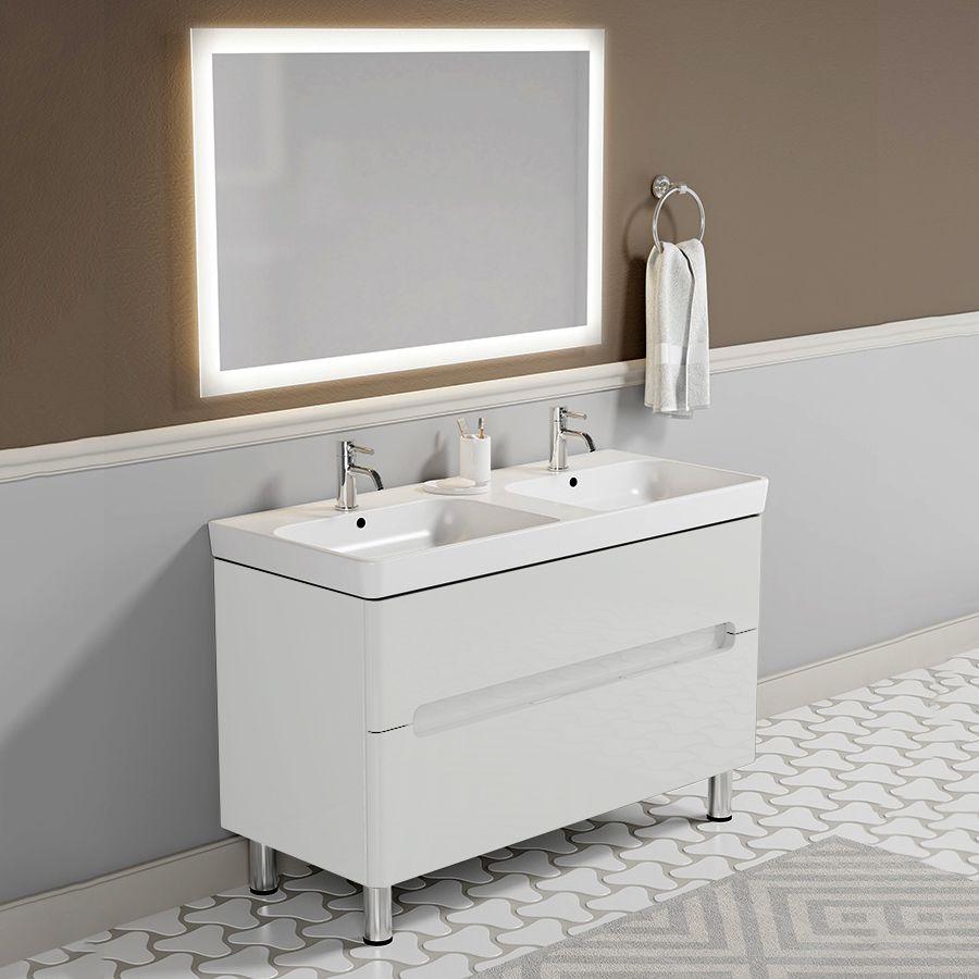 Комплект мебели Sanvit Форма 120 белый глянец