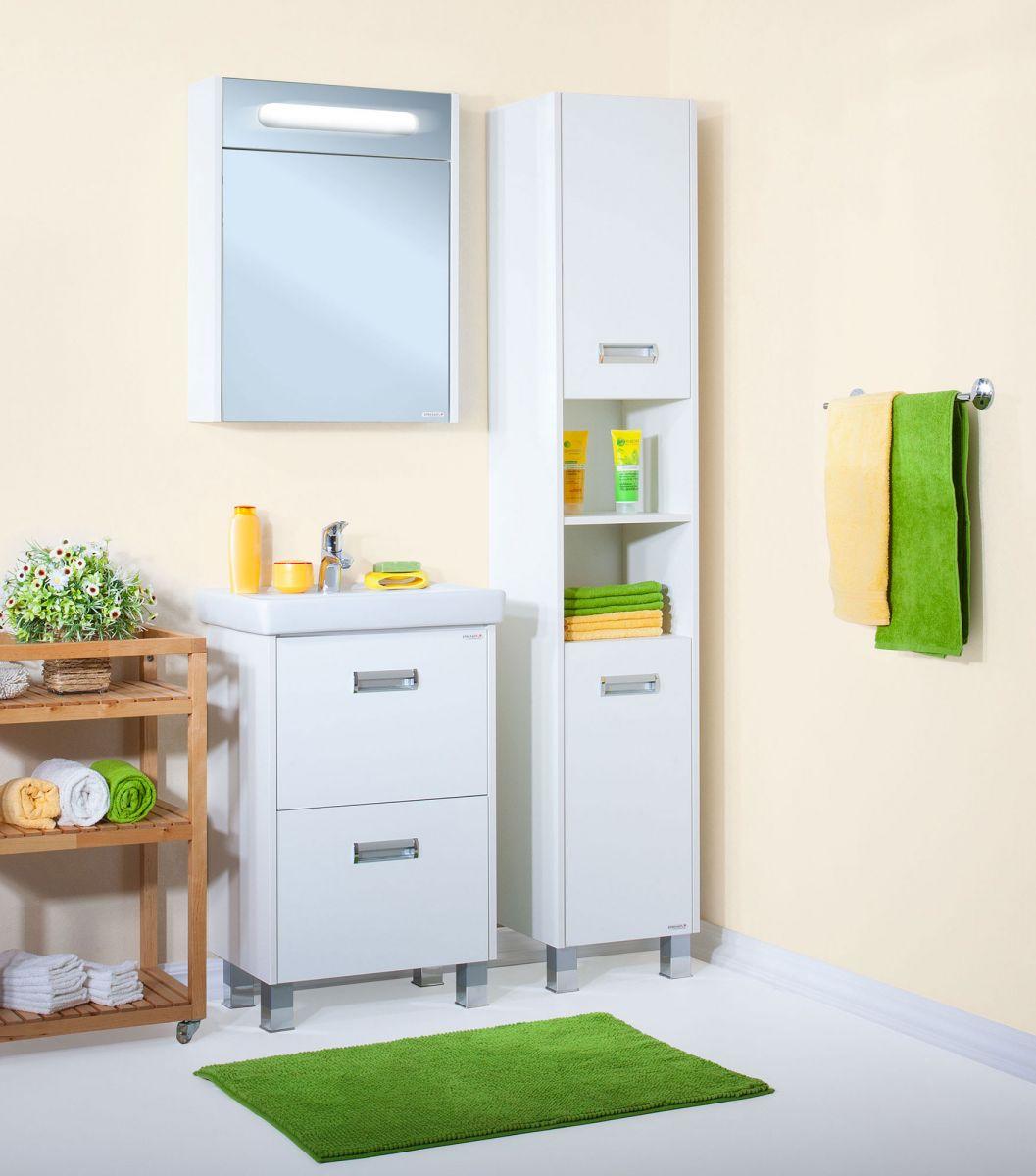 Комплект мебели Бриклаер Палермо 55 Белый глянец